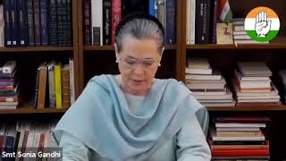 Remarks of Congress President Smt Sonia Gandhi at the video conference meeting with PCC Presidents