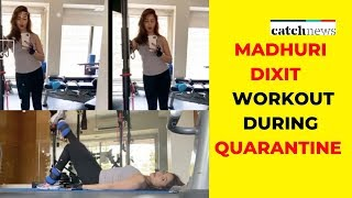 Watch: Madhuri Dixit Workout Video Amid COVID-19 Lockdown   Bollywood News   Catch News