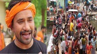 आजमगढ़ में Dinesh Lal Yadav Nirahua की तरफ से बाटी जा रही है राहत समाग्री