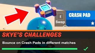 Bounce on Crash Pads in different matches