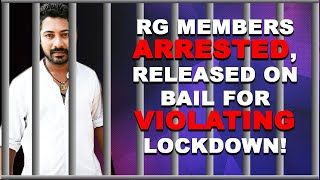 WATCH: Manoj Parab, & Five Others Arrested And Released For Violating Lockdown