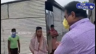 KTR Visited temporary shelters of construction Workers | Telangana News