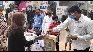 Sach News Distributes Ration Kits In Slums Of Hyderabad Ghouse Nagar   @ SACH NEWS  