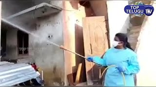 Actress & MLA Roja Chemical Spray in Streets | Lock Down | Telugu News | Top Telugu TV