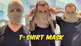 Ronit Roy Tutorial On T-SHIRT MASK | New Innovation | Home Made Mask