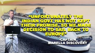 WATCH: Captain Of Marella Discovery Cruise Speaks To Crew, Says Indian Govt Has Not Kept Its Promise