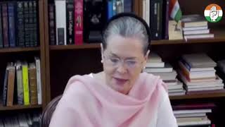 COVID-19 Testing and PPE Kit: Remarks of Congress President Smt Sonia Gandhi at CWC Meeting
