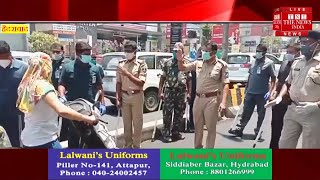 Cyberabad CP VC Sajjanar reviews implementation of lockdown, 15,000 Vehicles Seized In Cyberabad