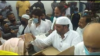 Ration Kits Distributed By Congress Party In Hyderabad Karwaan   @ SACH NEWS  