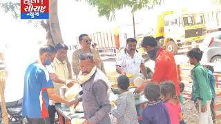 લીંબડી-ભવાની હોટલના માલીક દ્વારા ગરીબોને ભોજન કરાવાયું
