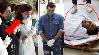 Alia Bhatt And Ranbir Kapoor CRIES BADLY ???????? At Rishi Kapoor's Funeral