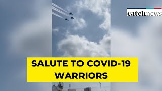 IAF's Su-30MKI Aircraft Fly Over Mumbai, Give Aerial Salute To COVID-19 Warriors | Catch News