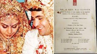 Rishi Kapoor And Neetu's RECEPTION Invite Goes Viral On Internet