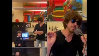 Watch: SRK sings 'lockdown special' song, dances with son AbRam