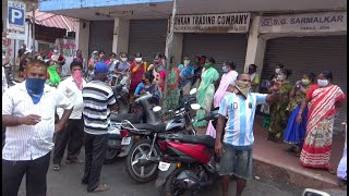 Panjim fish market reopen with 55 vendors remaining vendors protest
