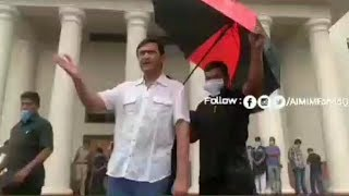 Akbaruddin Owaisi Working In Heavy Rainfall For The People Of Hyderabad | @ SACH NEWS |