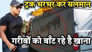 #Respect ???? Salman Khan's BEING HAANGRY Truck Distributes Food To Poor