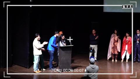 """Team CHAURASSI on Stage"" at Sikhlens India Film Festival 2020 in Chd 
