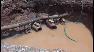 Major Water-pipeline damaged at Karaswada Mapusa