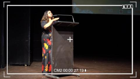Amy Singh Poetry at  Sikhlens India Film Festival 2020 in Chandigarh | RFE TV | Tagore Theatre