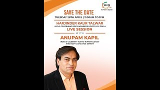 LIVE SESSION WITH ANUPAM KAPIL INDIA'S CELEBRITY ASTRO- NUMEROLOGIST AND BODY LANGUAGE EXPERT