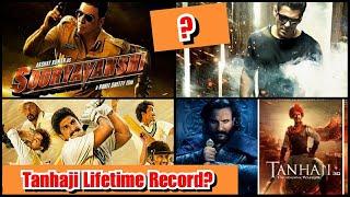 Who Will Break Tanhaji Lifetime Collection Record? RADHE, Sooryavanshi Or 83 Movie