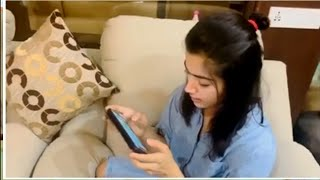 Rashmika Mandanna playing Rummy at Home | Rashmika Mandanna