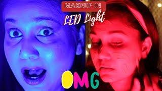 LED Lights Makeup Challenge! | Weird  Makeup Challenge | Nidhi Katiyar