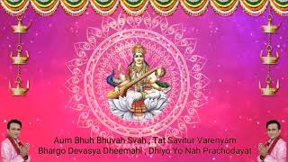 Gayatri Mantra Jaap 108 // Channel K// sung by Krishna ji 9990001001 / 9211996655
