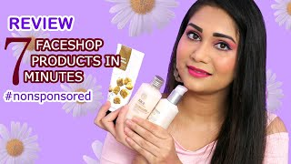 7 Bestseller Faceshop Products Review in 7 Minutes | Is it worth the Hype? | Nidhi Katiyar