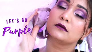 Purple Monochromatic Makeup | Purple Makeup Using Affordable Products Step By Step | Nidhi Katiyar