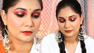 Orange Peppy Makeup | Nidhi katiyar