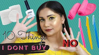 10 Beauty/Makeup Products I Don't Buy Anymore | 10 Beauty Products to Stop Buying | Nidhi Katiyar