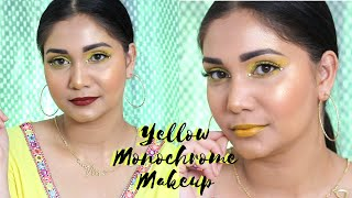 Yellow Monochromatic Makeup Look | Yellow Eyeshadow | Nidhi Katiyar