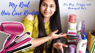 Sharing my REAL Hair Care Routine - Products & Tools for Dry, Frizzy & Damaged Hair | Nidhi Katiyar