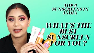 Top 6 Sunscreen for Summers in India for Oily, combination or Dry skin | Nidhi Katiyar