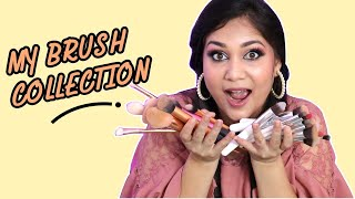 My Makeup Brush Collection - Collected over 5 years | Makeup Brushes for Beginners | Nidhi Katiyar