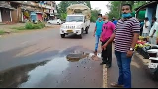 WACTH: PWD wakes up after thousands of litre water wasted due to damaged pipeline