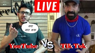 Carryminati Instagram Live | Ajaz Khan Instgram Live | YouTube vs TikTok