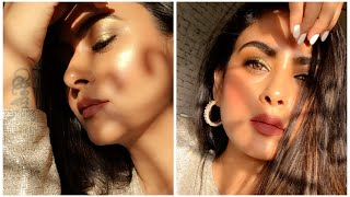 Golden Eye Makeup(NYX) | Drugstore Makeup India|