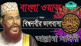 বিশ্ব নবীর ভালবাসা নিয়ে সুন্দর একটি ওয়াজ । Allama Delwar Hossain Saidi   Bangla Islamic Lecture