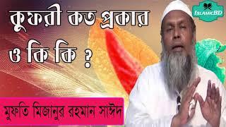 কুফরী কত প্রকার ও কি কি ? বাংলা ওয়াজ মাহফিল । New Bangla Waz Mahfil 2020 | Mufty Mizanur Rahman said