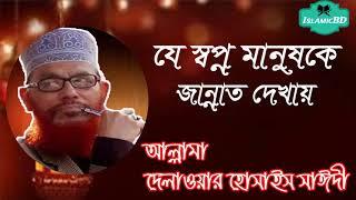 সাঈদী বাংলা ওয়াজ মাহফিল । যে স্বপ্ন মানুষকে জান্নাত দেখায় । Bangla Islamic Lecture   Saidi Waz