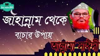 সাঈদী ওয়াজ মাহফিল । জাহান্নাম থেকে মুক্তির উপায় । Allama Delwar Hossain Saidi | Bangla Waz Mahfil