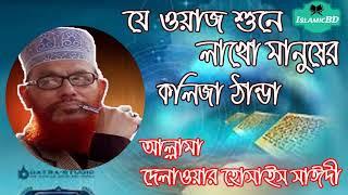 যে ওয়াজ শুনে লাখো মানুষের কলিজা ঠান্ডা । Bangla Waz Mahfil | Allama Delwar Hossain Saidi