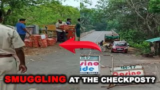 Video shows goods being allegedly smuggled through checkpost under police supervision!
