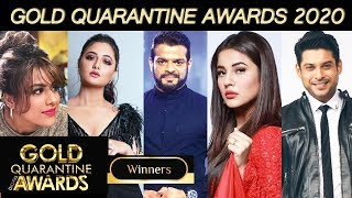 Shehnaz, Rashmi, Sidharth WINS Gold Quarantine Awards 2020 | FULL LIST