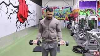 Shoulders Biceps and CARDIO Workout! Day-49 (Hindi / Punjabi)