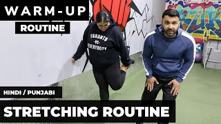 Are you SORE? Try this STRETCHING Routine! (Hindi / Punjabi)
