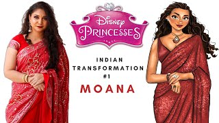 Transformed Into Disney Princess Moana | Indian/Desi Version | Wedding Guest Makeup | Nidhi Katiyar
